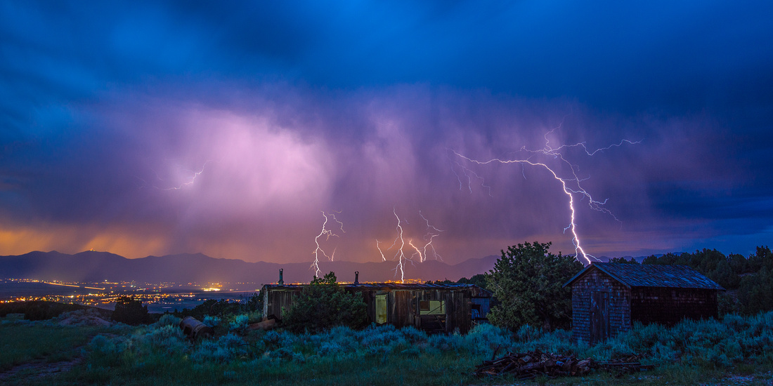 Lightning Over Tooele Valley